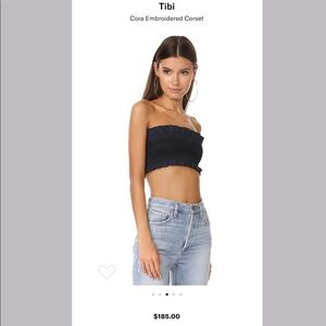 TIBI Cora Embroidered Corset
